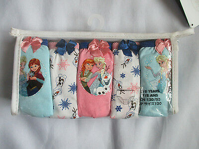 NEW Disney Store Disney Princess Frozen Girl's Underwear 5-Pack Size 7/8