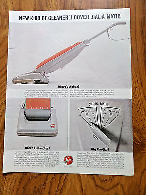 1963 Hoover Vacuum Cleaner Ad  Hoover Dial-A-Matic New Kind of Cleaner
