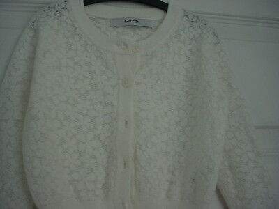 Girls Gorgeous George White Lacy Summer Cardigan - Age 12/18 Months - Twins
