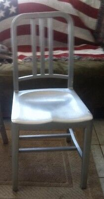 Vintage Aluminum Emeco Navy Slat Back Chair Dining/Side Industrial(one Chair)