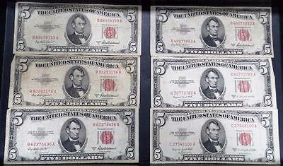 Lot of 41 1953 Series A and B $5 Bills REDUCED CHEAP
