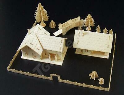 T Gauge Farmhouse and Outhouse Building Kit