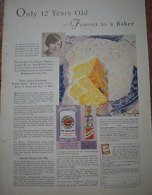 1932 Gold Medal Flour 12 Year Old CAKE Baker Ad