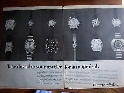 1970 Caravelle by BULOVA WATCH  Two Page Ad