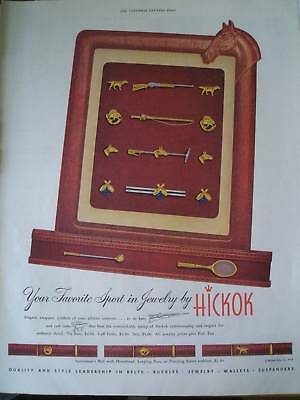 1950 WALLETS AND BELTS  your sport in jewelry Hickok ad