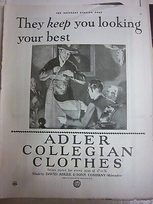 1921 Vintage ADLER Collegian Clothes Mens Clothing Fashion Ad