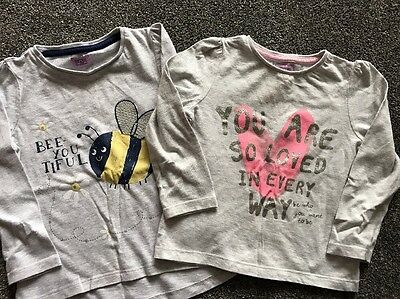 F&F Girls 18-24 Month Long Sleeve Slogan Tops