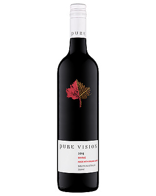 Pure Vision Organic Shiraz 2014 case of 12 Dry Red Wine 750mL