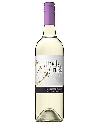Devils Creek Pinot Grigio case of 12 Dry White Wine 2015 750mL