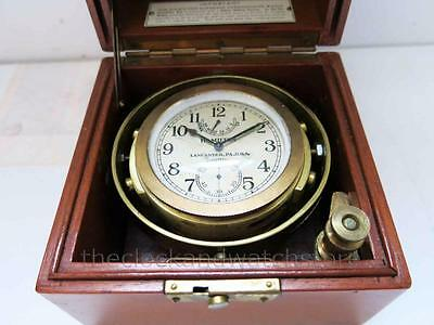 Hamilton Model 22 Marine Chronometer 1941 Serial # With Inner Box 4 Restoration