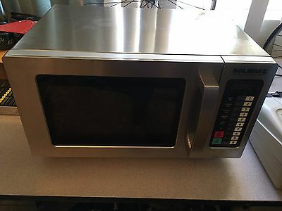 Solwave Stainless Steel Commercial Microwave w/Push Button Controls -120V, 1000W