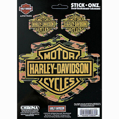 Harley-Davidson Camouflage Decals Bar and Shield Officially Licensed Product