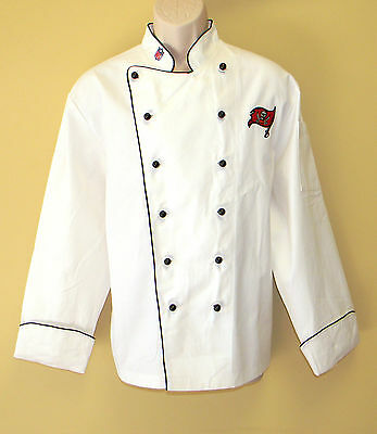 New Nfl Tampa Bay Buccaneers Premium Chef Coat 100% Cotton M Size Football Chief