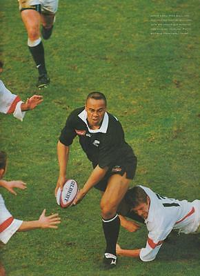New Zealand Rugby Jonah Lomu 1999 ORIGINAL ARTICLE FROM MAGAZINE All Blacks
