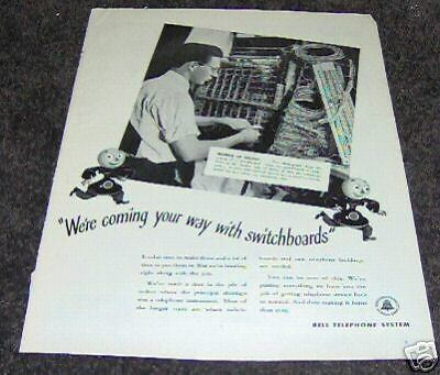 1946 Bell Telephone System Way with Switchboard Ad