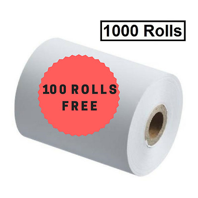 1000 57X40MM THERMAL ROLLS Cash Register, Receipt Rolls ($0.33 per roll)