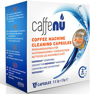Caffenu Nespresso Compatible Coffee Machine Cleaning Capsules PODS x 5 CFCC005