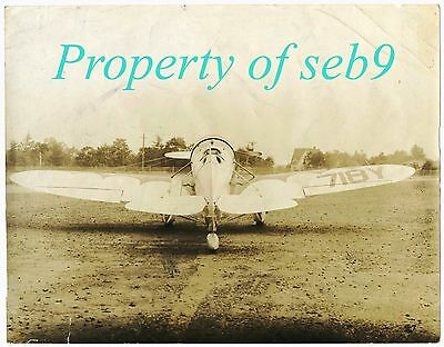 1931 Rare Granville Factory Photo X718Y Gee Bee Y Race Plane~Klingensmith Killed