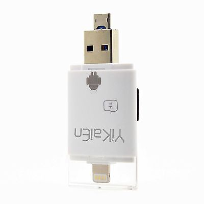 YiKaiEn iReader USB Micro SD OTG Card Reader Support Photo Scrolling Through ...