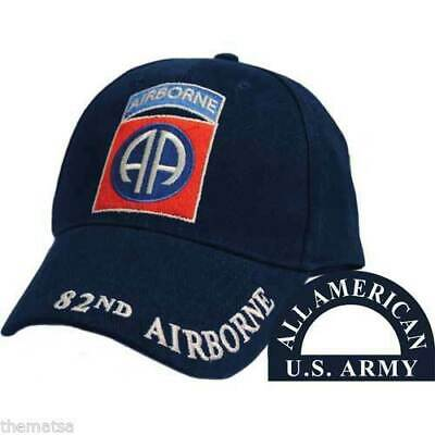NEW U.S MILITARY ARMY 82nd AIRBORNE EMBROIDERED HAT CAP OFFICIAL LICENSED HATS