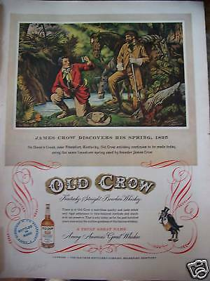 1952 Old Crow Whiskey James Crow Spring 1825 Ad