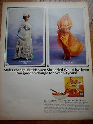 1903 Gibson Girl 1965 Shredded Wheat Cereal Ad