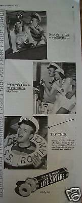 1946 Life Savers Candy Boating Float Raft Ad