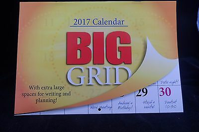 Magnetic Big Grid 2017 Calendar - Free Shipping - Fast Postage - HD Print