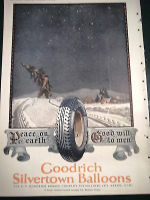 1925  Goodrich Tires Christmas Tree Karl Godwin Art Ad