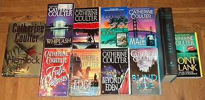 """CATHERINE COULTER """"THRILLER"""" BOOK COLLECTION - Lot of 11 - Great Reading!!"""