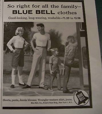 1957  Blue Bell Clothes JEANS Family Bus Ride Ad