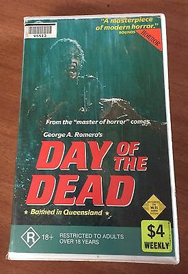 Day Of The Dead VHS Video Ex Rental Zombie Vintage Horror Movie 1985