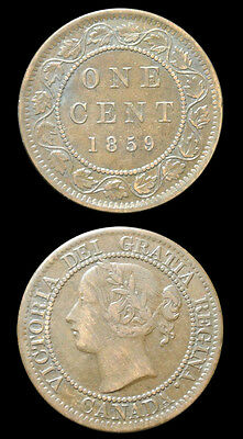 1859 Canada Large Cent - Victoria - Variety - Higher Grade