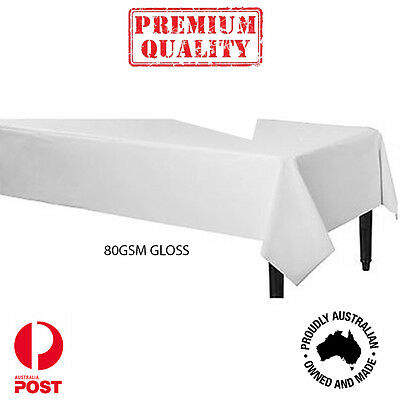 Table paper Glossy Tablecloth Cover party Paper 1100x1100mm 80GSM 10kg Pack
