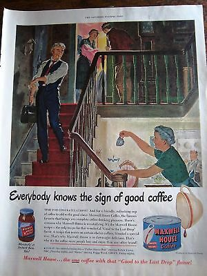 1950 Maxwell House Coffee Doctor New Baby Ad