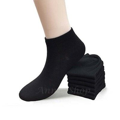 New 12 Pairs Fashion Women's Low Cut Ankle Socks Casual Cotton Size 9-11 Black