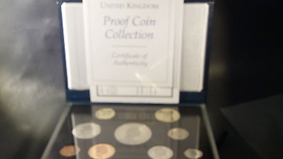 1996 United Kingdom Proof Coin Collection 9 Coins OGP COA