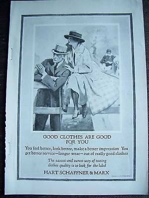 1923 Hart Schaffner & Marx Good Clothes are For You Ad