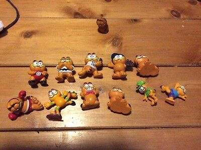 GARFIELD Lot of 11 PVC Figures 1978,1981 United Feature Syndicate VINTAGE