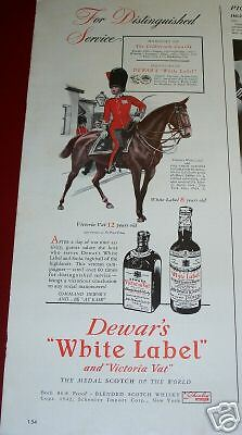 1942 Dewar's White Label  Scotch Coldstream Guards Ad