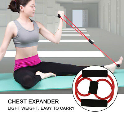 8 Characters Chest Expander Spring Exerciser Equipment Tool Roll Strap Belt GZ