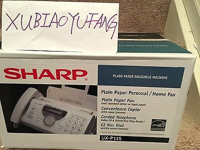 New Sealed Box Sharp UX-P115 Plain Paper Fax Machine Phone Copier Facsimile