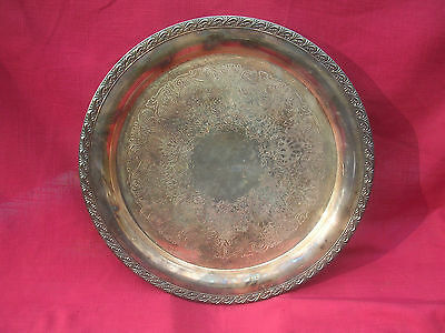 Old Vintage Wm. Roger's Silverplated Serving Tray / Platter / Charger - 772