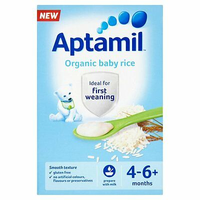 Aptamil Organic Baby Rice Ideal For First Weaning 4-6 Months 100g