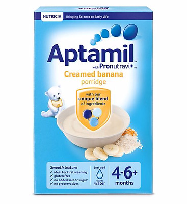 Aptamil Creamed Banana Porridge 4-6 Month 125g