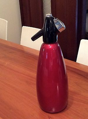 VINTAGE RETRO RED 1960s BOC SODA SYPHON