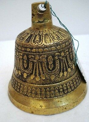 BRASS Bell - Marine / Religion / Spiritual - Height: 4 - Weight: 0.754 (1372)