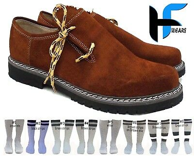 Oktoberfest German Bavarian Trachten Traditional Lederhosen Suede Leather shoes