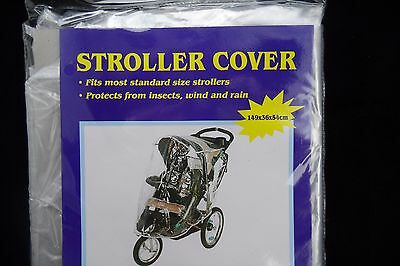 Universal Baby Toddler Pram Stroller-  PVC - WEATHER PROOF RAIN & WIND COVER