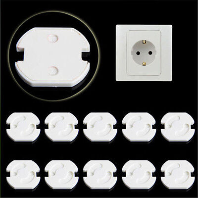 10pcs EU Power Socket Outlet Plug Protective Cover Baby Child Safety Protector.